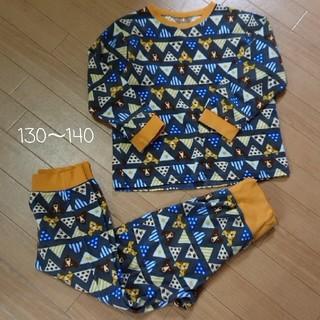 ベルメゾン(ベルメゾン)のはらまき付き綿混フリースパジャマ 140サイズ(パジャマ)