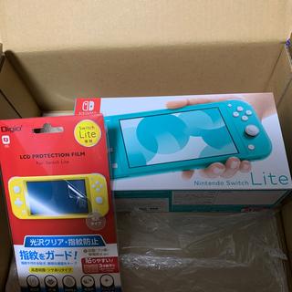 ニンテンドースイッチ(Nintendo Switch)のNintendo Switch Lite ターコイズ 新品未開封品 画面シール付(携帯用ゲーム機本体)