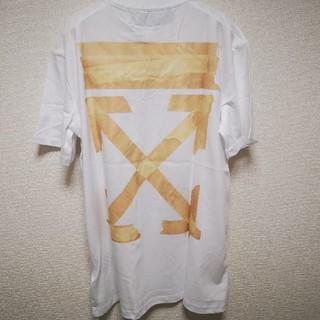 OFF-WHITE - OFF-WHITE オフホワイト TAPE ARROWS テープ Tシャツ