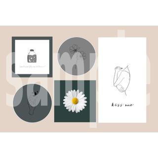 4-① メンバーカラー メンカラ ネップリ ネットプリント 黒系 1枚(カード/レター/ラッピング)