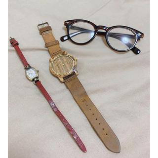 アースミュージックアンドエコロジー(earth music & ecology)の腕時計2本と伊達眼鏡のセット(腕時計)