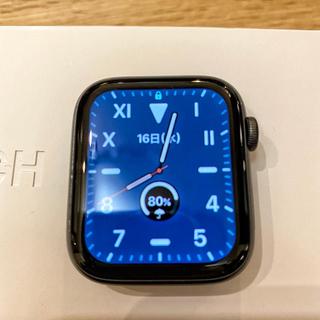 アップルウォッチ(Apple Watch)のApple Watch Series 4 グレイ44mm アップルケア (スマートフォン本体)