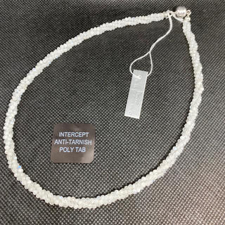 ホワイトレインボームーンストーン ネックレス