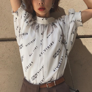 Ameri VINTAGE - Ameri PASSCODE GATHER BLOUSE 新品