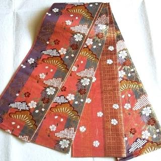 ニシジン(西陣)の西陣織 半巾帯(小幅袋帯) 両面 リバーシブル(帯)