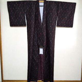 トールサイズ 着物 身丈166cm 古代久米織紬   紬地名古屋帯セット(着物)