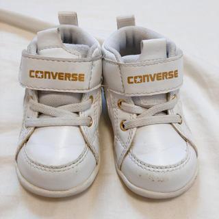 CONVERSE - ファーストシューズ ⭐️ スニーカー 12cm 白 ゴールド コンバース
