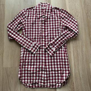 マウジー(moussy)のmoussy マウジー ギンガムチェックシャツ ワインレッド(シャツ/ブラウス(長袖/七分))