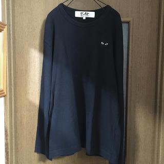 コムデギャルソン(COMME des GARCONS)のplay コムデギャルソン 黒ロンT メンズ L(Tシャツ/カットソー(七分/長袖))