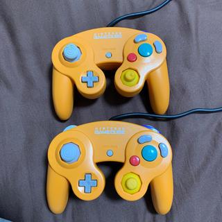 ニンテンドーゲームキューブ(ニンテンドーゲームキューブ)の中古 ゲームキューブ コントローラー 2個 オレンジ(その他)