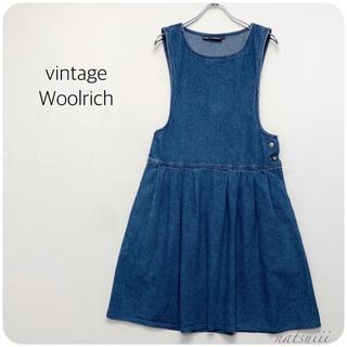 ウールリッチ(WOOLRICH)のOLD Woolrich  ヴィンテージ デニム ジャンパースカート メキシコ製(ひざ丈ワンピース)