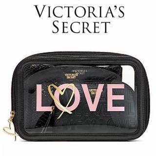 ヴィクトリアズシークレット(Victoria's Secret)の新品Victoria'ssecretヴィクトリアシークレットポーチ3点セット(ポーチ)