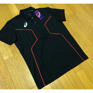 asics - 新品未使用 asics D1ポロシャツ黒2XLアシックストレーニング定価5390