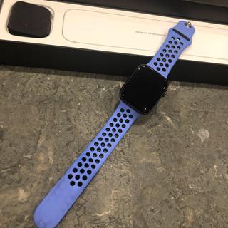 アップルウォッチ(Apple Watch)の美品 アップルウォッチ ナイキ シリーズ5 44㎜ セルラー(腕時計(デジタル))