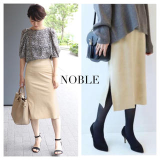 ノーブル(Noble)のNOBLE  フェイクスウエード タイトスカート(ひざ丈スカート)