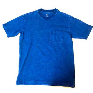 ギャップ(GAP)のGAP   デニム Tシャツ インディゴ XSサイズ(Tシャツ/カットソー(半袖/袖なし))