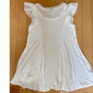 スナイデル(snidel)のsnidel 肩フリルトップス Tシャツ 美品(Tシャツ/カットソー)