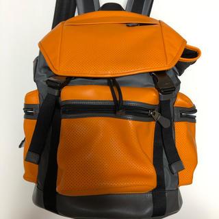 コーチ(COACH)のCoach コーチ レザーリュックサック メンズ オレンジ F57477(バッグパック/リュック)