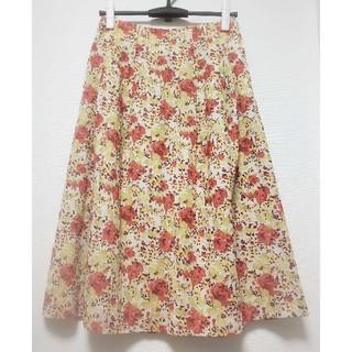 マーガレットハウエル(MARGARET HOWELL)のMARGARET HOWELL花柄ロングスカート(ロングスカート)