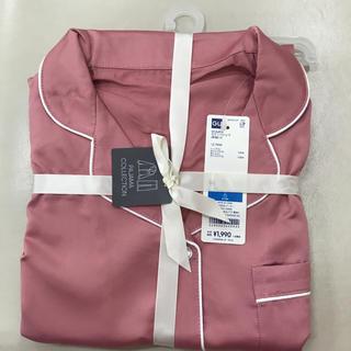 ジーユー(GU)のgu サテンパジャマ 新品未使用 Mサイズ ピンク(パジャマ)