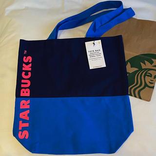 Starbucks Coffee - スターバックス トートバッグ 海外 北欧 Starbucks 日本未発売 ブルー