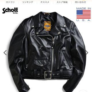 ショット(schott)のSchott ショット 218W ライダースジャケット 美品 レザージャケット(ライダースジャケット)