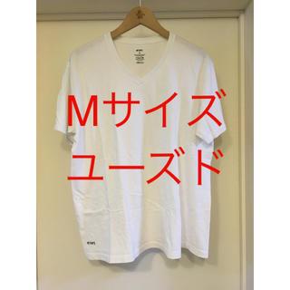 W)taps - wtaps skkivvies v-neck Tシャツ Mサイズ 白 vans