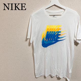 ナイキ(NIKE)のNIKE Tシャツ メンズL 白 ビッグロゴ デカロゴ(Tシャツ/カットソー(半袖/袖なし))