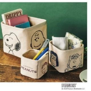 スヌーピー(SNOOPY)のsteady. 3月号♥スヌーピー&フレンズ♥収納ボックス 3個セット(小物入れ)