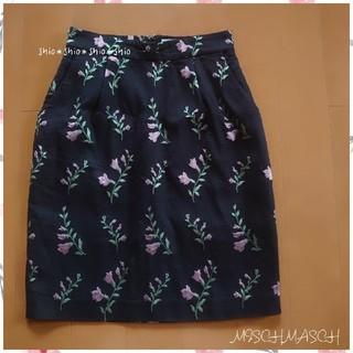 ミッシュマッシュ(MISCH MASCH)の《MISCH MASCH》花柄 フラワー ジャガード タイトスカート M(ひざ丈スカート)