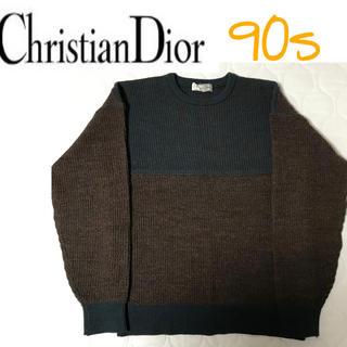 クリスチャンディオール(Christian Dior)の90s ディオール Dior 切り替え セーター(ニット/セーター)