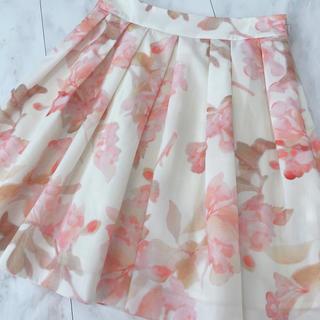 アベニールエトワール(Aveniretoile)のアベニールエトワール フレアスカート 花柄 サイズ36(ひざ丈スカート)