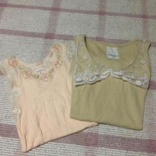 カスタネ(Kastane)のkastane*タンク2セット(Tシャツ(半袖/袖なし))