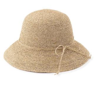ムジルシリョウヒン(MUJI (無印良品))の無印良品 ラフィア 帽子(麦わら帽子/ストローハット)