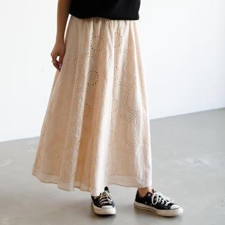 アンティローザ(Auntie Rosa)の新品☆シフリー刺繍コットンマキシスカート(ロングスカート)