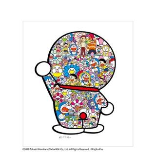【新品未開封】村上隆  藤子・F・不二雄先生とドラえもんがお花畑に居る ポスター(ポスター)