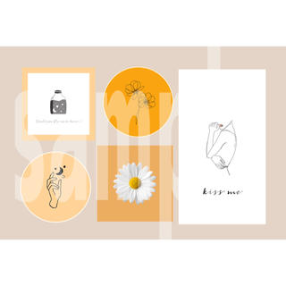 4-④ メンバーカラー メンカラ ネップリ ネットプリント オレンジ系 1枚(カード/レター/ラッピング)
