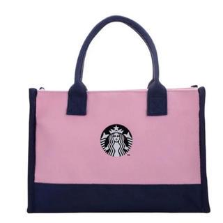 スターバックスコーヒー(Starbucks Coffee)のスターバックス トートバッグ スタバ 台湾 バッグ 海外スタバ ピンク(トートバッグ)