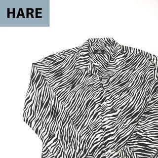 HARE - ハレ HARE オーバーサイズ 日本製 ゼブラ柄 総柄シャツ