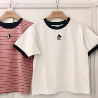 ヘザー(heather)のheather ヘザー  ミッキー Tシャツ ディズニー コラボ 白T(Tシャツ(半袖/袖なし))