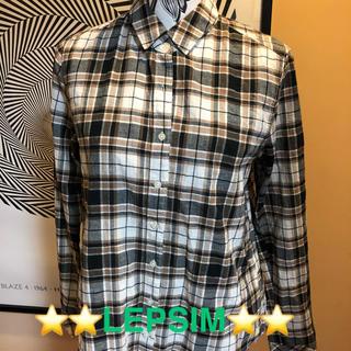 レプシィム(LEPSIM)のLEPSIM 柔らかチェックシャツ(シャツ/ブラウス(長袖/七分))