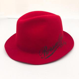 Borsalino - 【レアカラー】ボルサリーノ 18.57 赤ハット 帽子