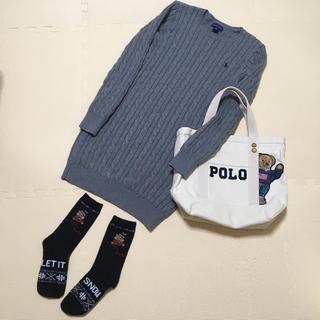 【ラルフローレン】ニット ワンピース セーター くつ下 ポロベア