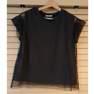 ルクールブラン(le.coeur blanc)のチュールTシャツ(Tシャツ(半袖/袖なし))