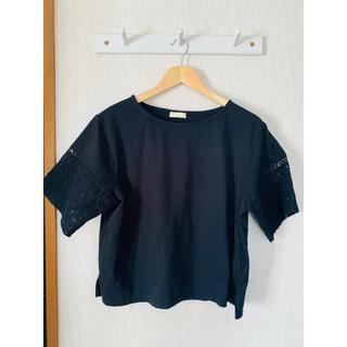 アースミュージックアンドエコロジー(earth music & ecology)のアースミュージック&エコロジー 半袖Tシャツ フリー ブラック(Tシャツ(半袖/袖なし))