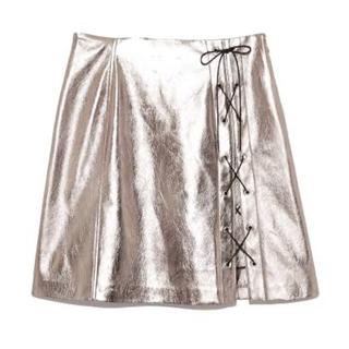 snidel - スナイデル シルバーレースアップスカート