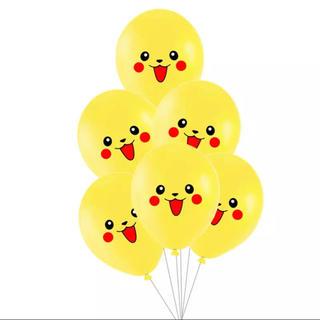 ポケモン(ポケモン)のピカチュウ 6つセット☆ ポケモン バルーン 風船 飾り付け 誕生日(その他)