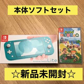 ニンテンドースイッチ(Nintendo Switch)の【新品未開封】Nintendo switch  lite あつまれどうぶつの森 (携帯用ゲーム機本体)