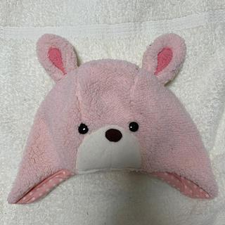 アカチャンホンポ(アカチャンホンポ)のうさぎ モコモコ 帽子 女の子 44〜46cm(帽子)