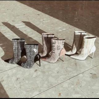 エイミーイストワール(eimy istoire)のMALHIA K ツイードPVCブーツ black (ブーツ)